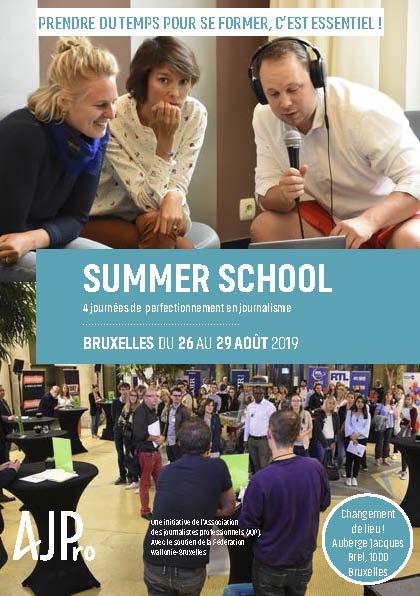 Le programme de la Summer school 2019