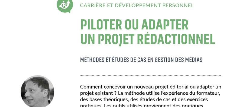 Piloter ou adapter un projet rédactionnel