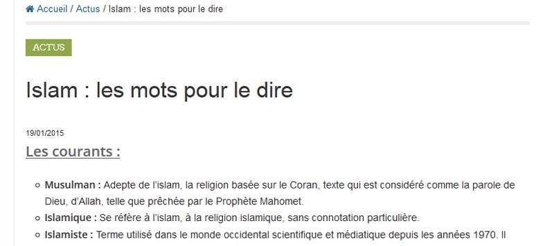 Islam, islamisme et radicalisation